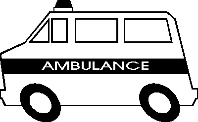 Free Ambulance Clipart Black And White, Download Free Clip.
