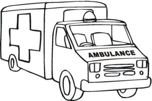 Black And White Clipart Throughout Ambulance Clipart Black.