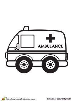 Ambulance clipart line art, Ambulance line art Transparent.