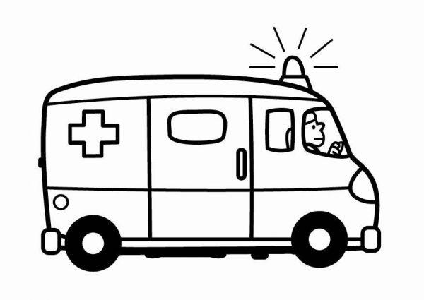 Ambulance Clipart Black And White 5.