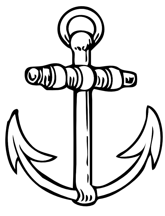 Anchor Black And White Clipart.