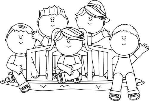 Clipart Black And White Kids Clipground