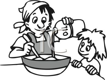 Baking clipart black and white » Clipart Station.