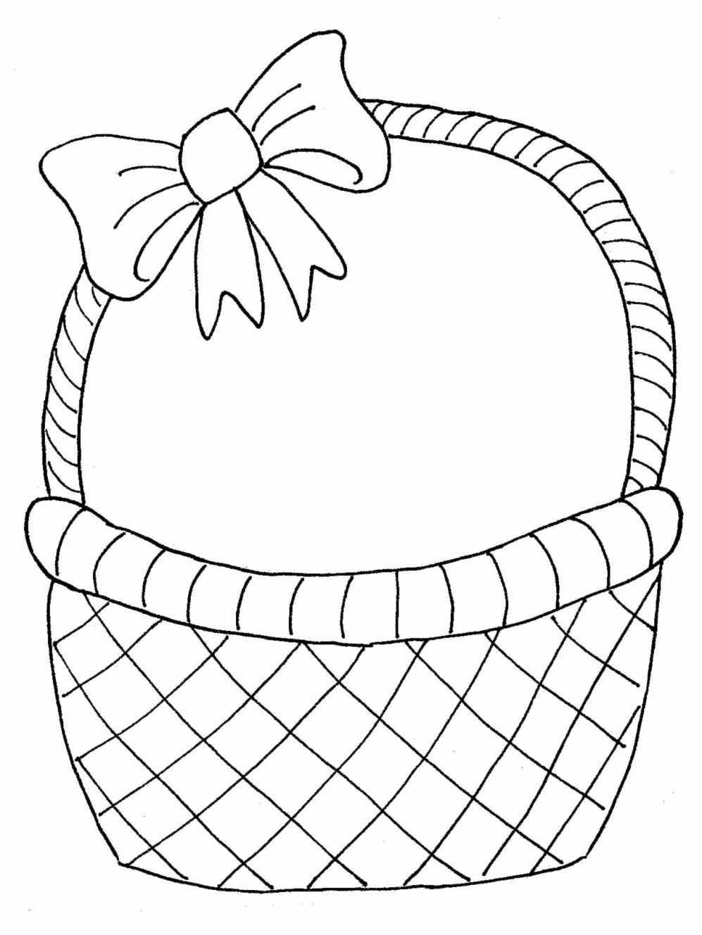 Basket black and white clipart 4 » Clipart Station.
