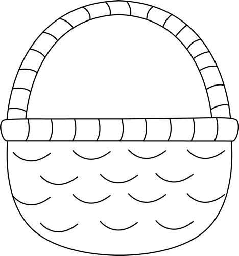 Free Basket Clipart Black And White, Download Free Clip Art.