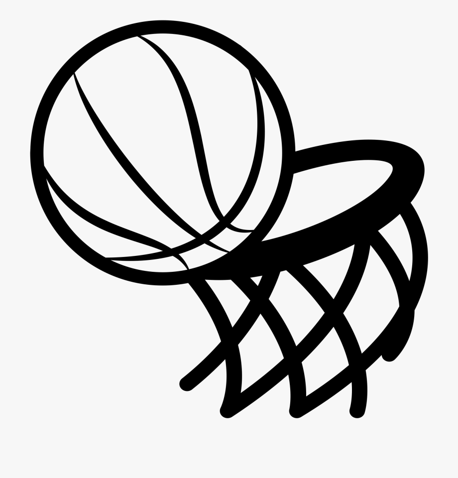 Graphic Freeuse Basketball Hoop Black And White Clipart.