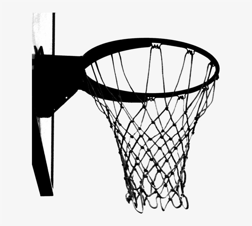 Black And White Basketball Hoop.