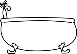 Free Tub Clipart Black And White, Download Free Clip Art.