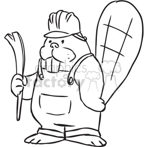 beaver construction vector RF clip art images clipart. Royalty.