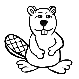 Free Beaver Clipart Black And White, Download Free Clip Art.