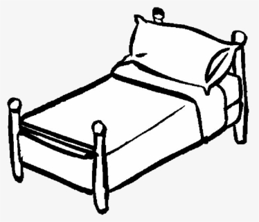 Free Sleep Black And White Clip Art with No Background.