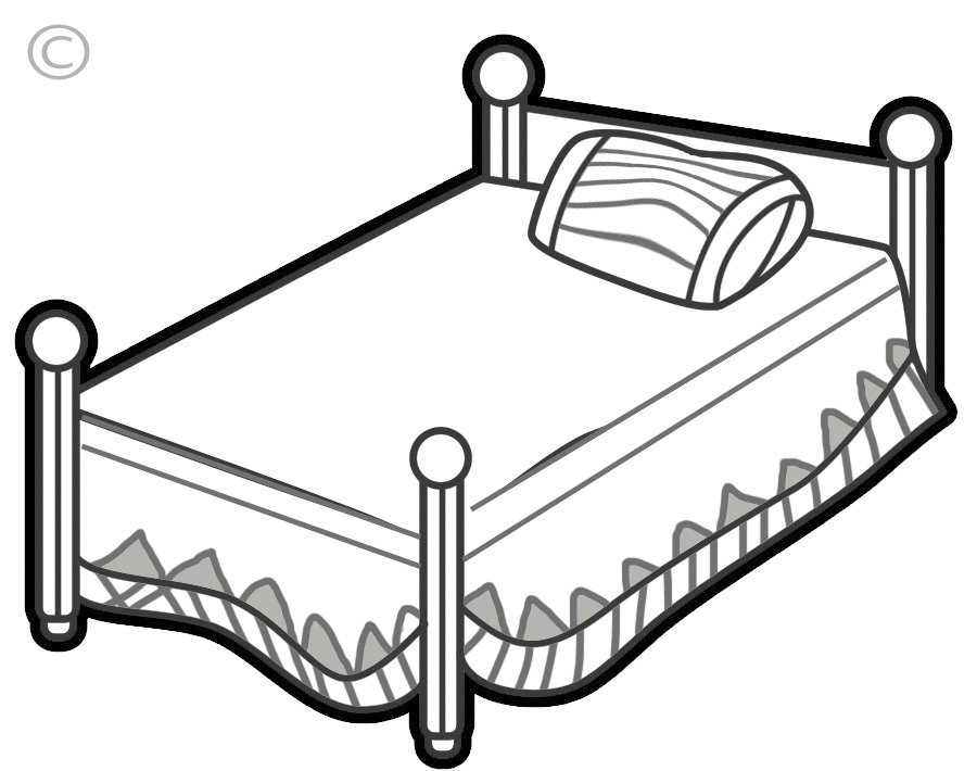 Bed clipart black and white, Picture #90989 bed clipart.