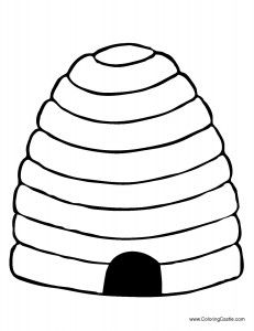 Beehive Clipart Black And White.