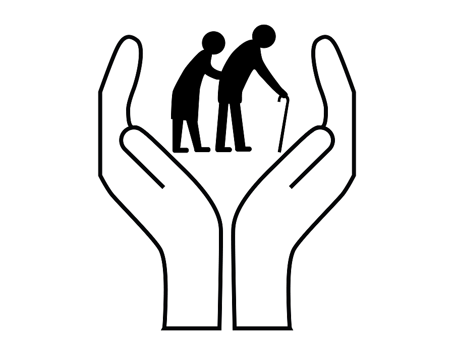 Old Age Home Clipart Black And White.
