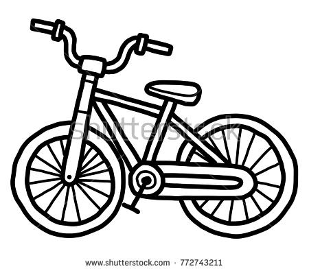 Bike black and white clipart 5 » Clipart Station.