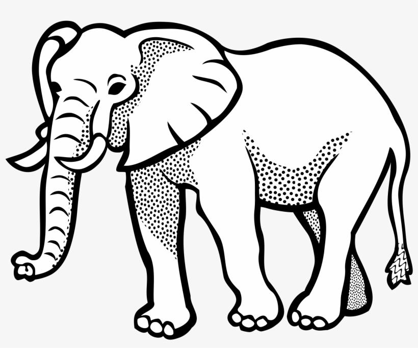 Elephant Lineart Big Image Png.