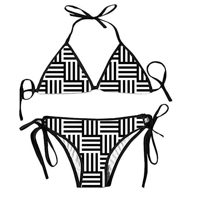 Amazon.com: Women Stripe Printing Beautiful Black White.