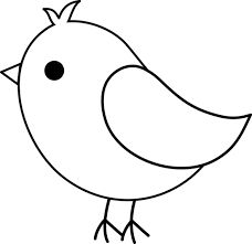 Birds black and white clipart 1 » Clipart Station.