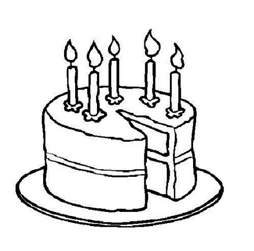7823 Birthday Cake Clipart Black And White Birthday Cake Clipart.