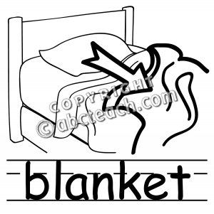 Blanket clipart black and white » Clipart Station.