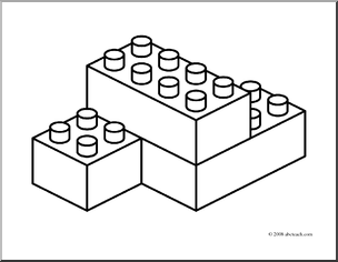 Black And White Blocks Clipart.