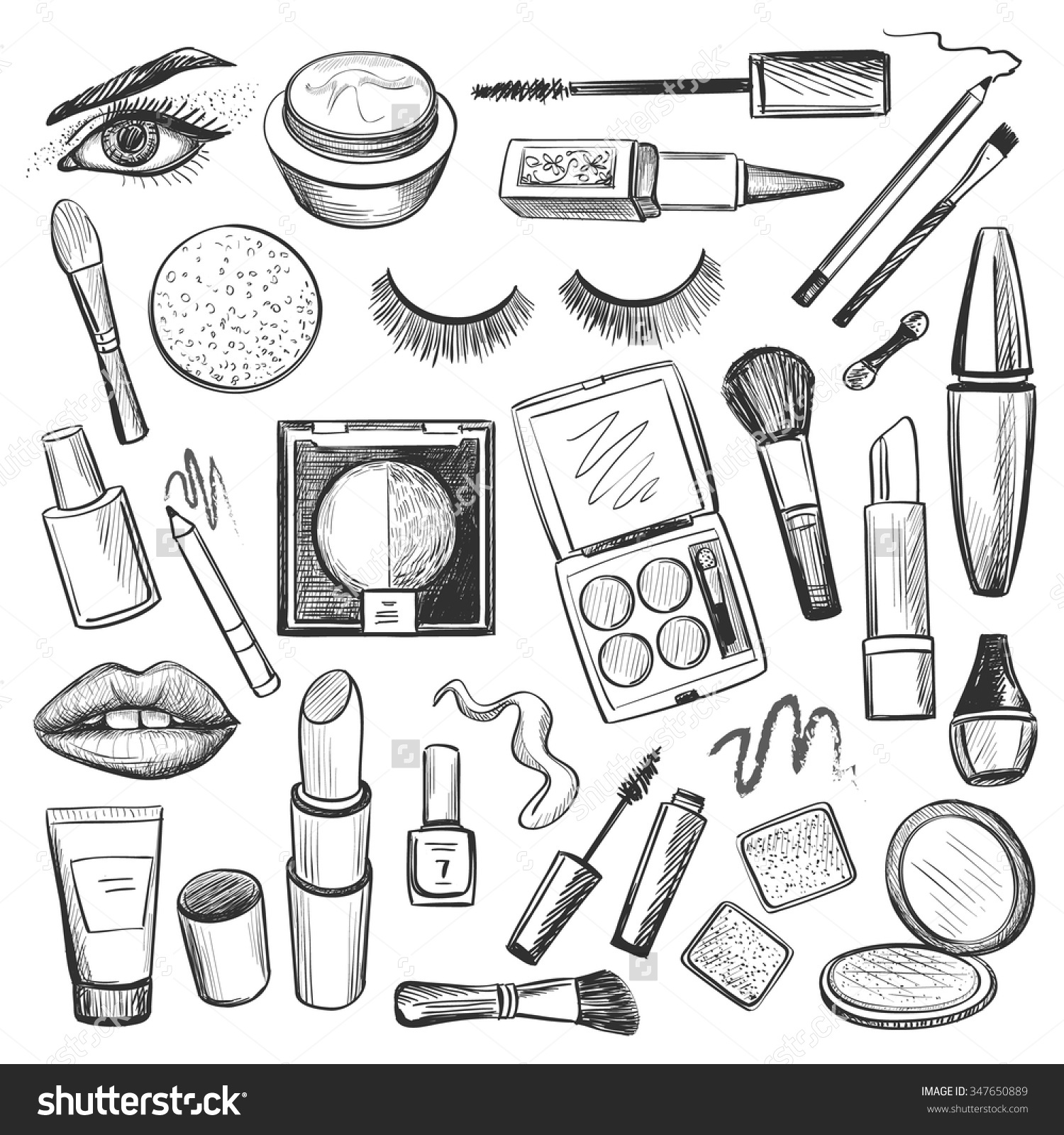 Free Makeup Clipart Black And White, Download Free Clip Art.