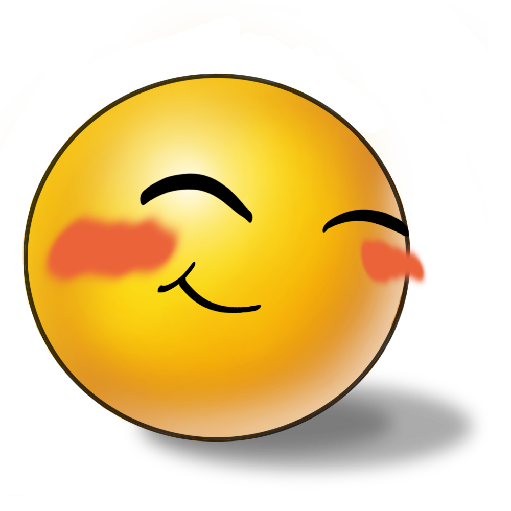 Blushing Smiley Clipart.