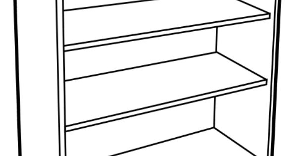 Free Bookshelf Clipart Black And White, Download Free Clip.