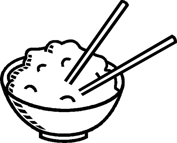 Rice Bowl Black And White Clip Art at Clker.com.