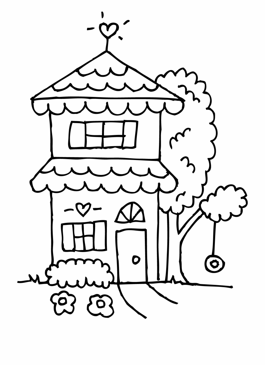 Image Library Stock House Black And White Clipart.