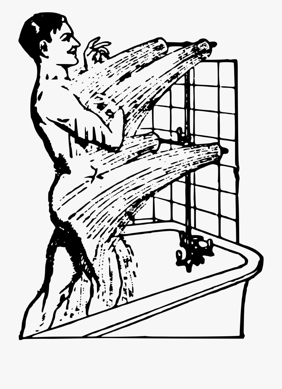 Shower Clipart Man.