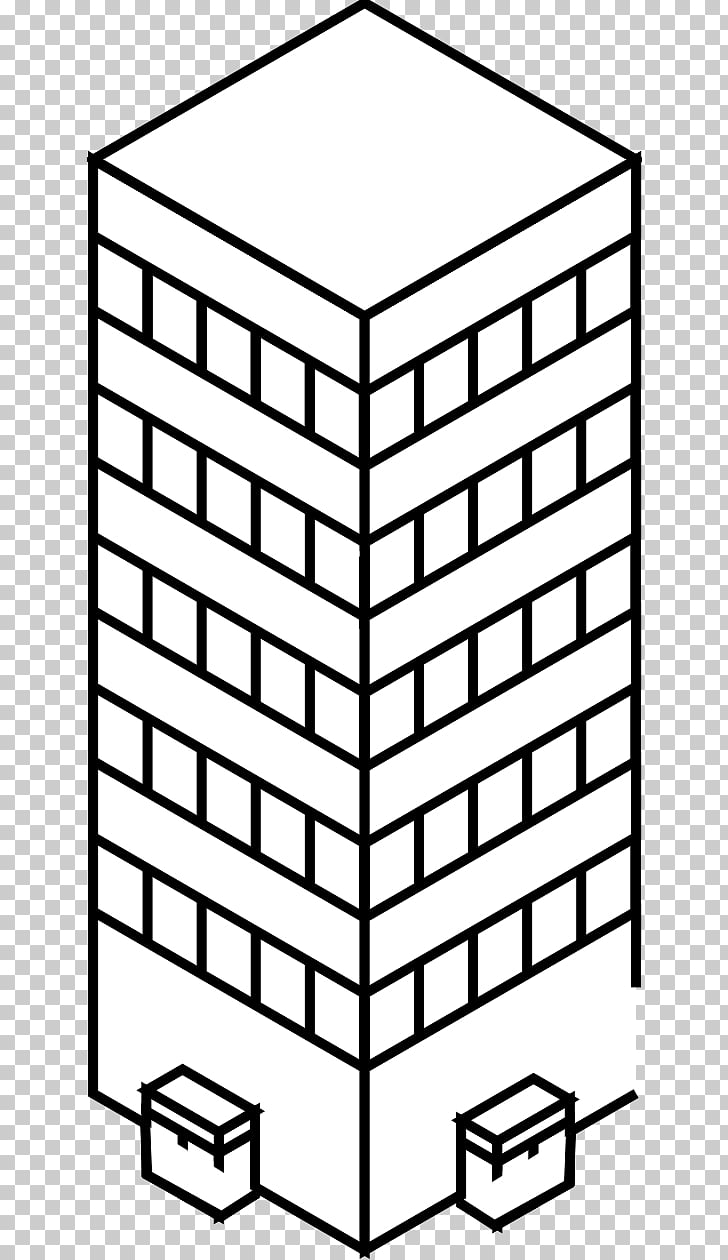 Black and white Drawing Building , skyscraper PNG clipart.