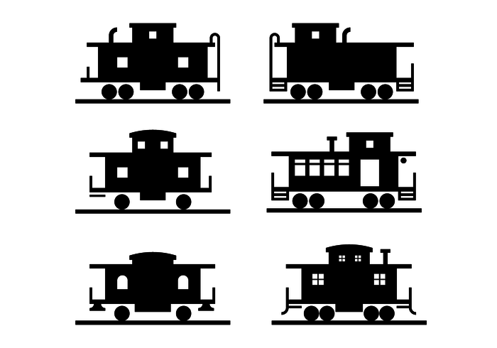 172 Caboose free clipart.