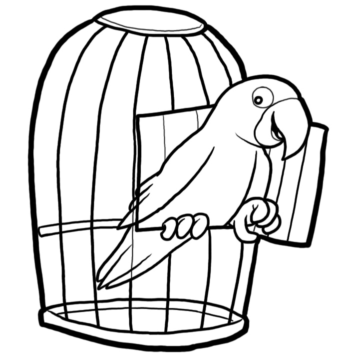 Cage clipart black and white » Clipart Station.