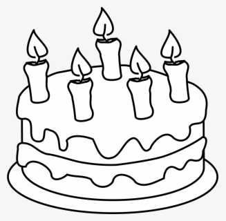 Free Cake Black And White Clip Art with No Background.