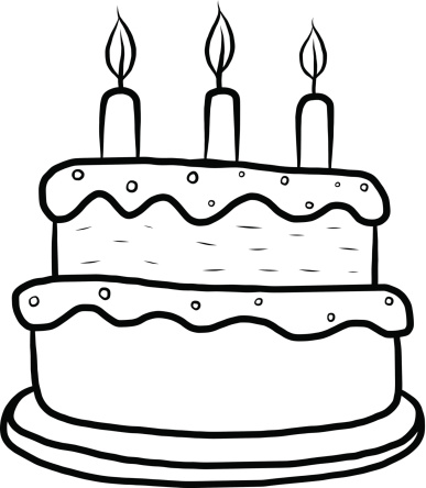 Free Birthday Cake Clip Art Black And White, Download Free.