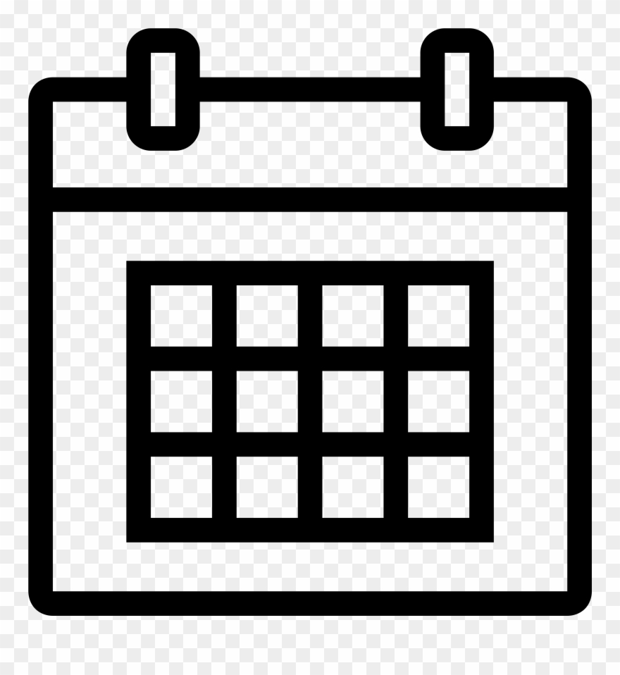 Calendar Icon White Png.