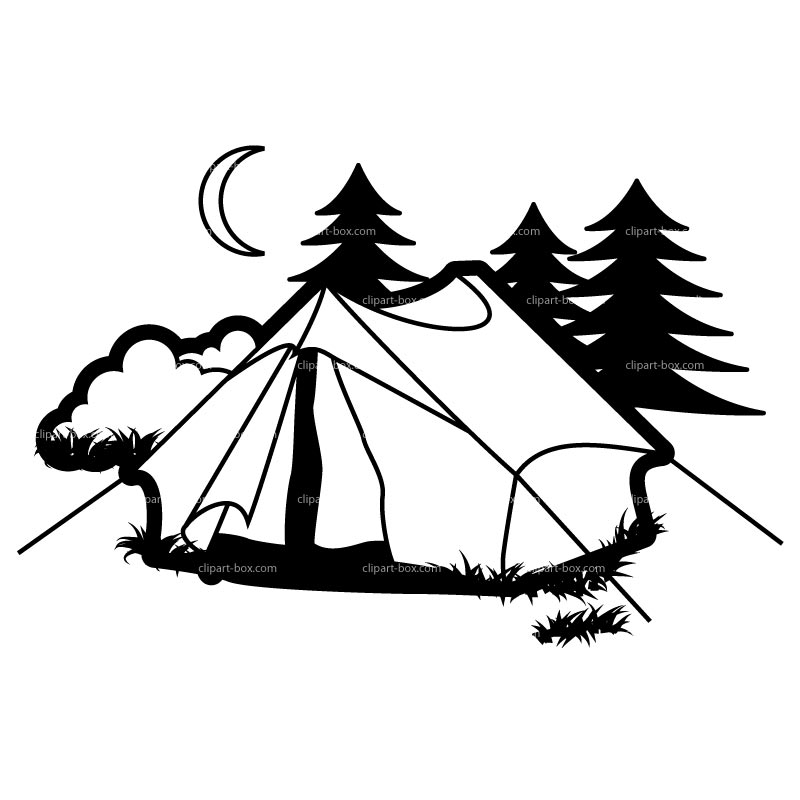 Free Black Camping Cliparts, Download Free Clip Art, Free.