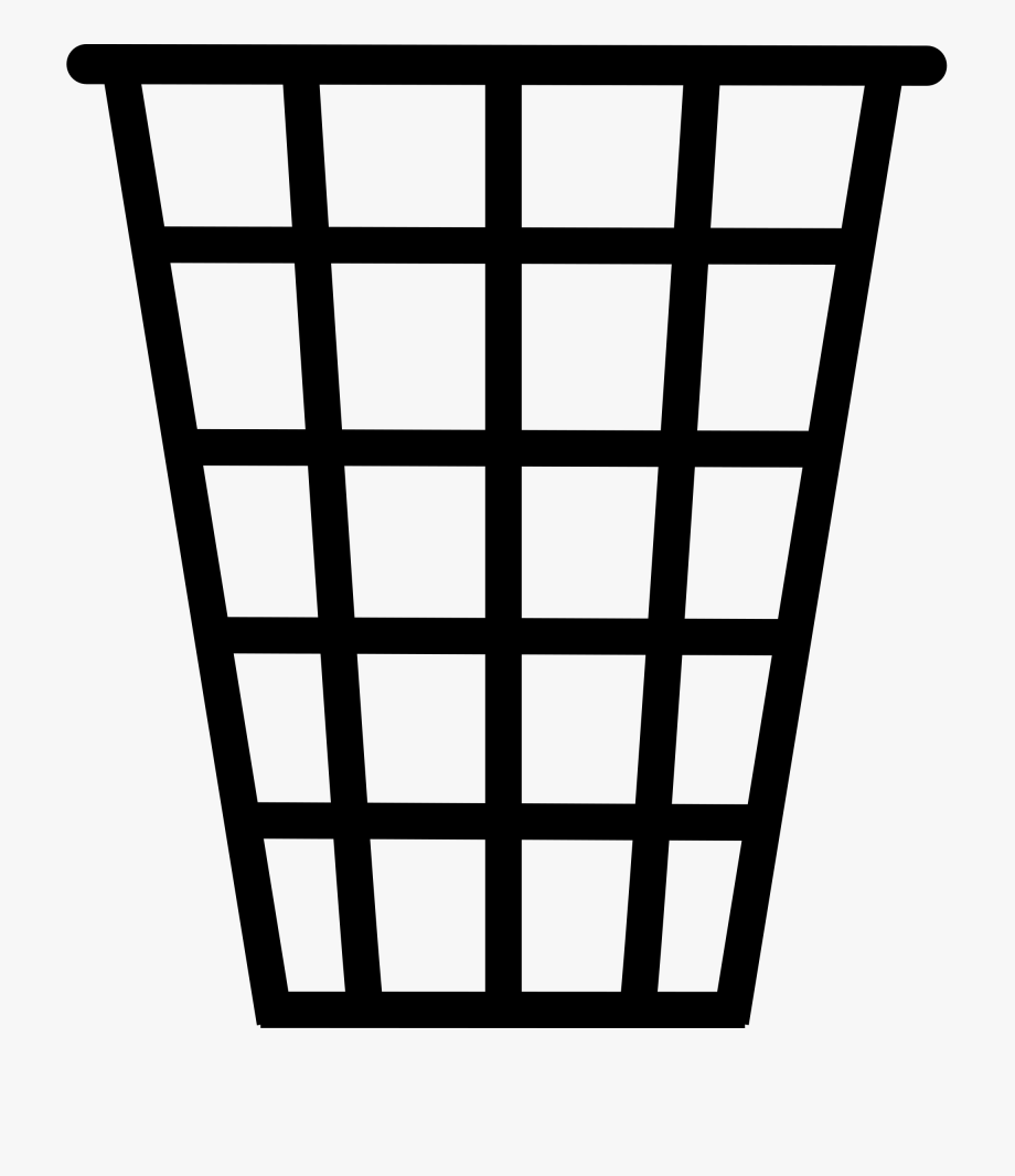 Trash Can Clipart Black And White.
