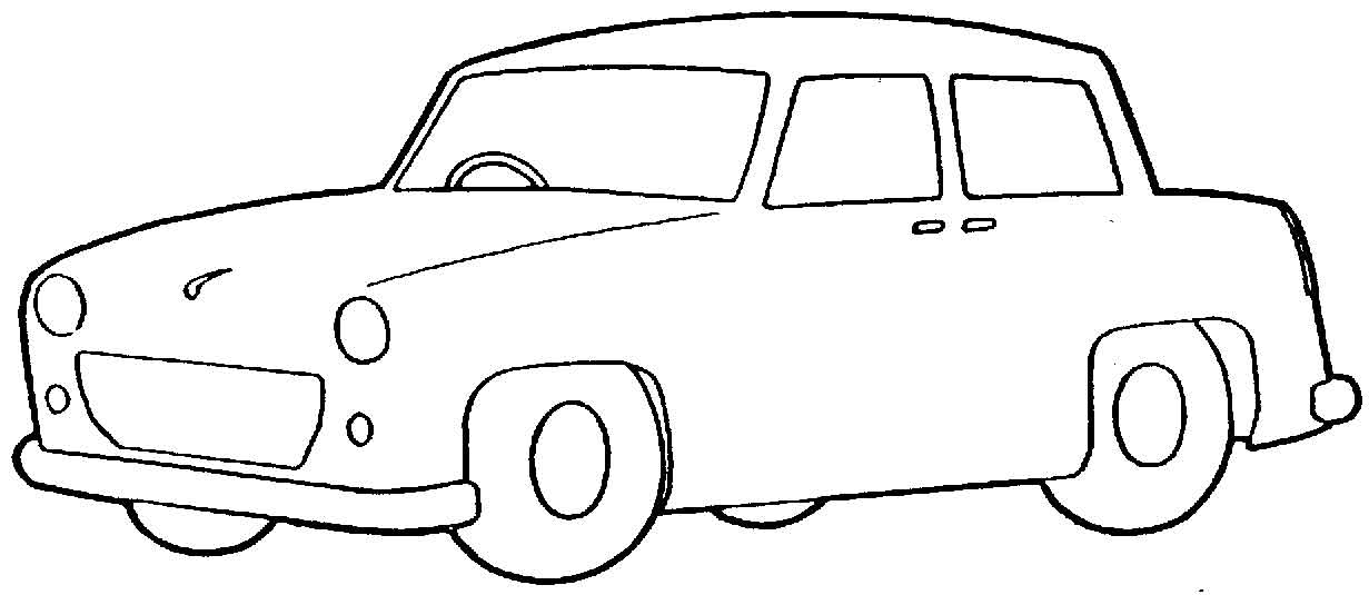 Black And White Clipart Of Car.