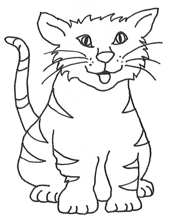 Cat And Kitten Clipart Black White.