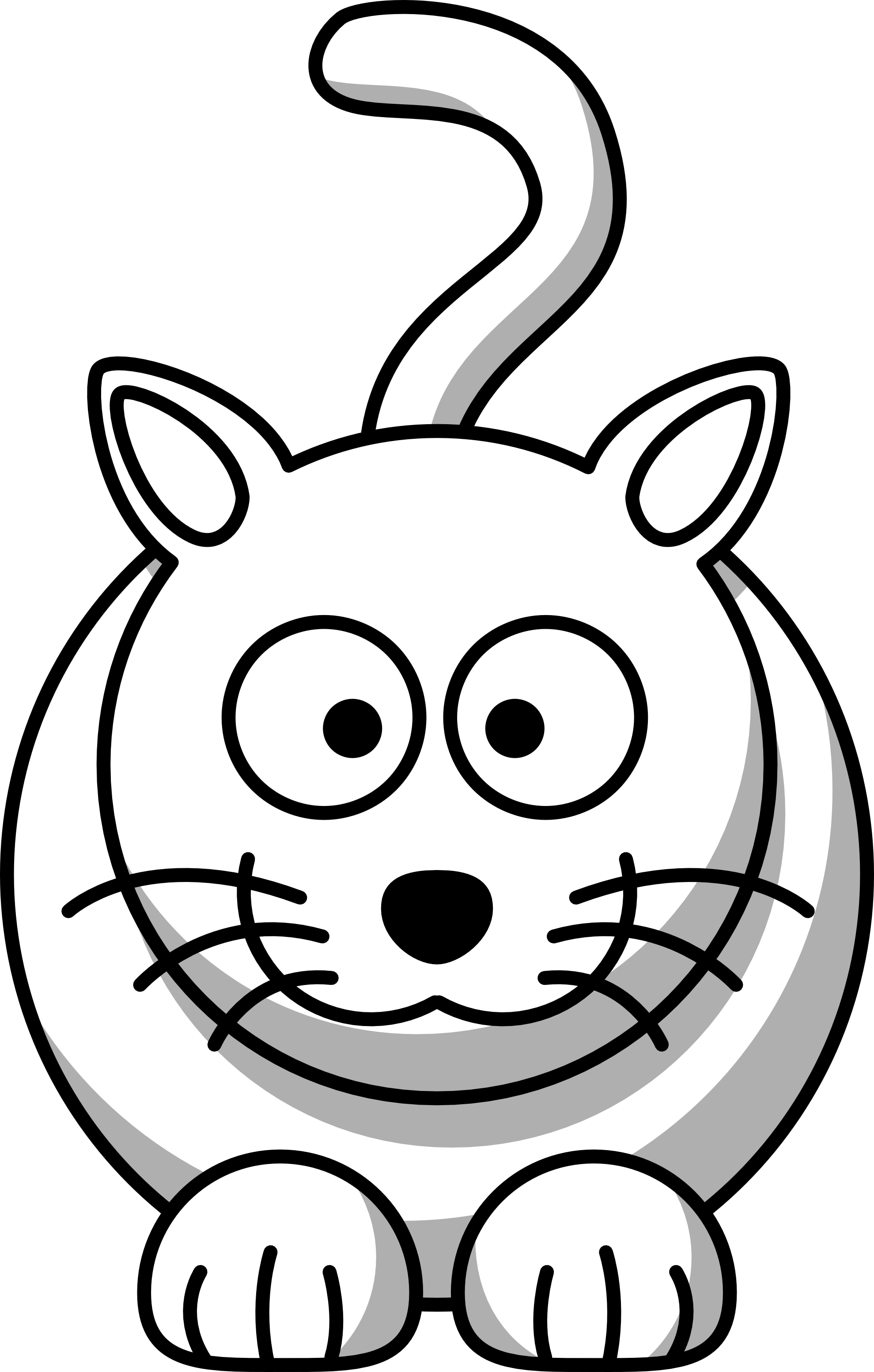 Cat Cartoon Black And White.