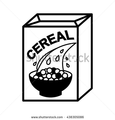 Cereal clipart black and white 4 » Clipart Station.