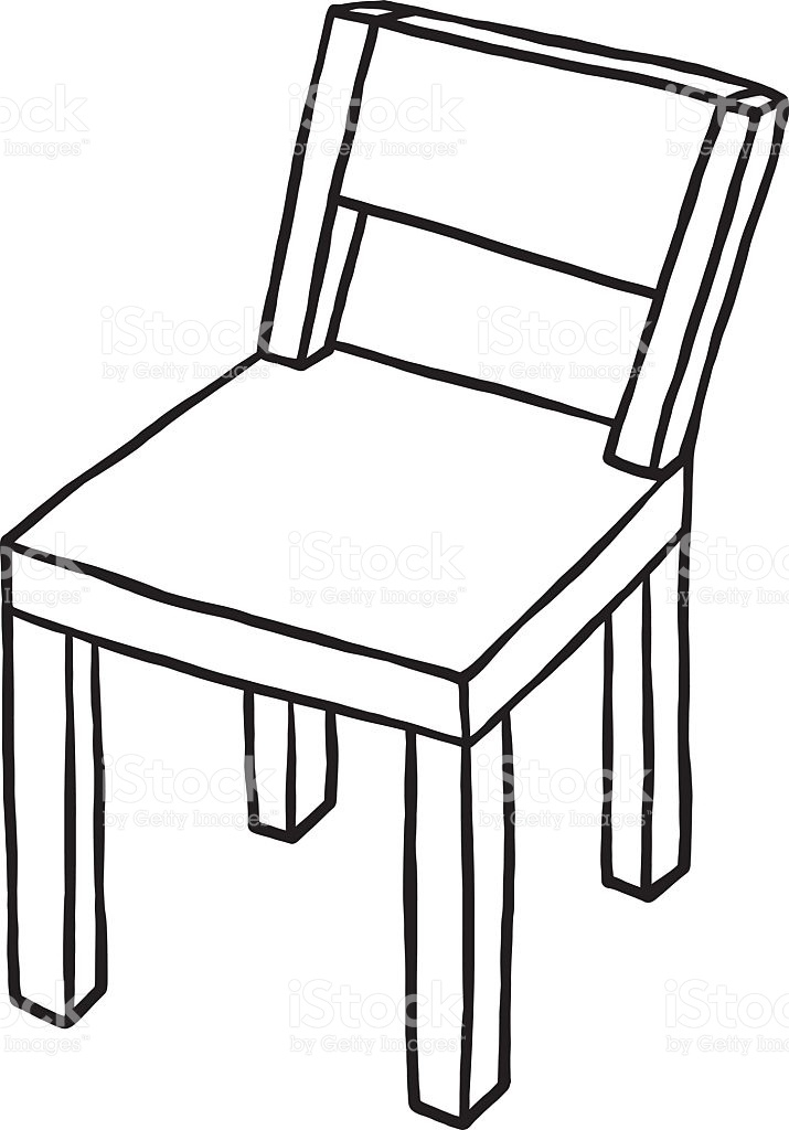 Chair Clipart Black And White Wood Clipart Seat Pencil And.