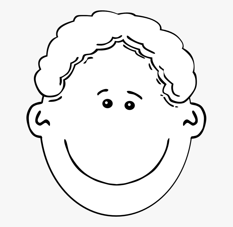Happy Face Boy Clipart Black And White , Free Transparent.