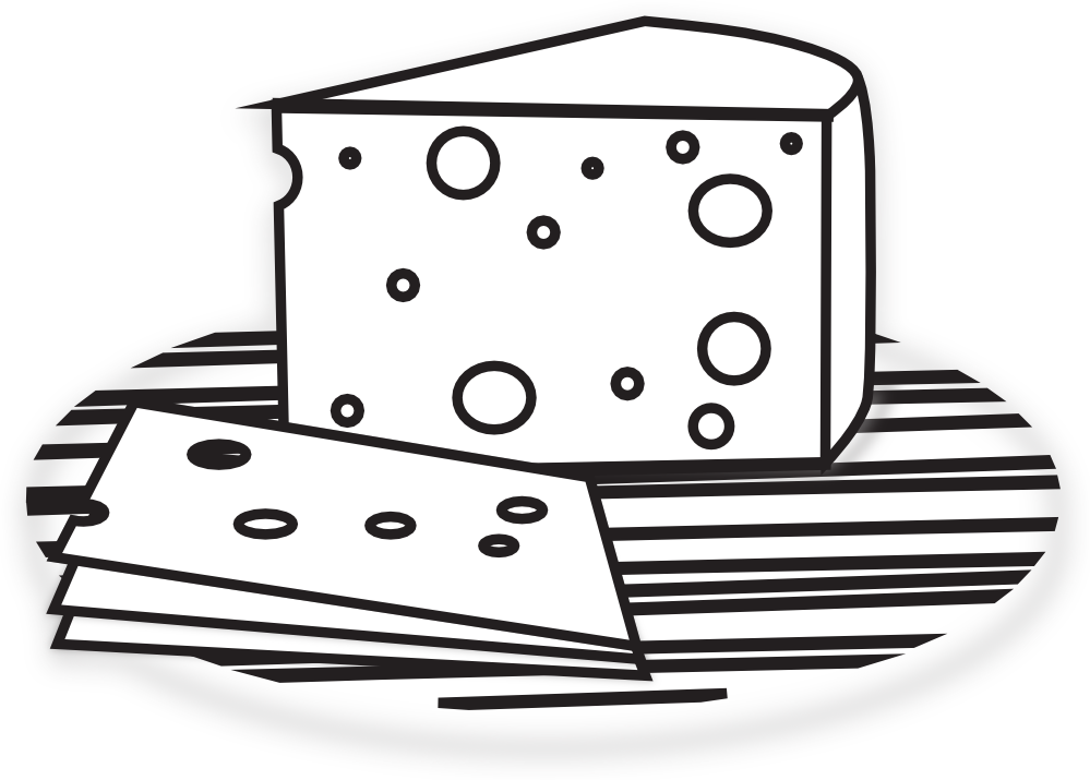 Free Cheese Black And White Clipart, Download Free Clip Art.