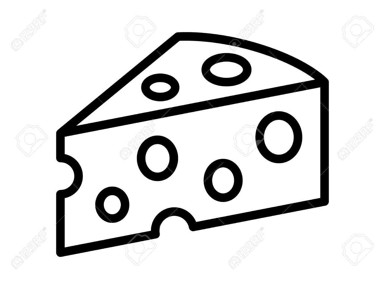 Cheese black and white clipart 5 » Clipart Station.