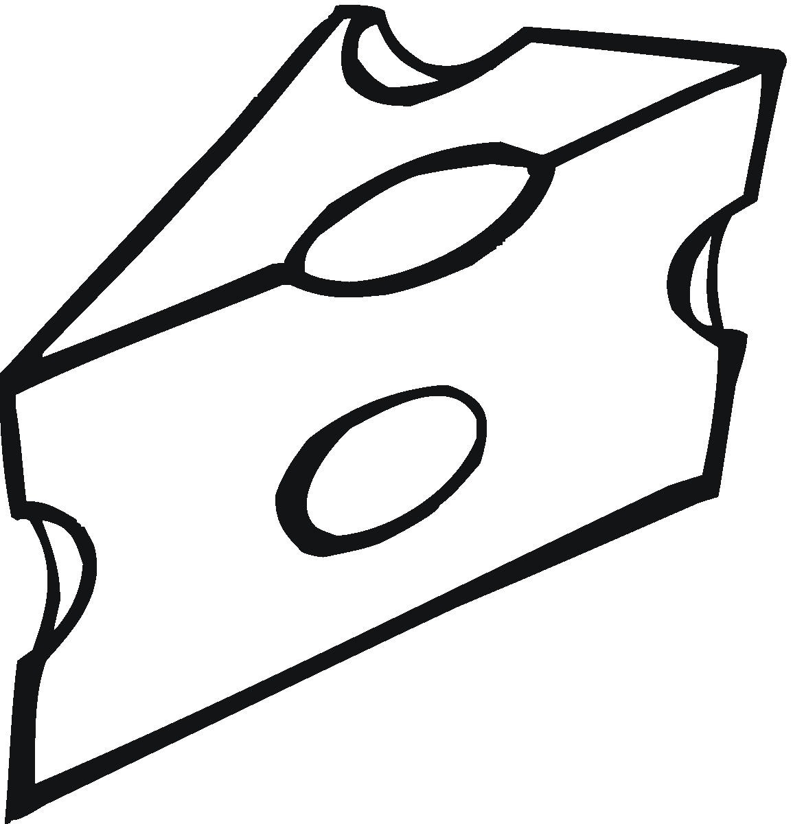 Cheese clipart black and white free clipart image image.