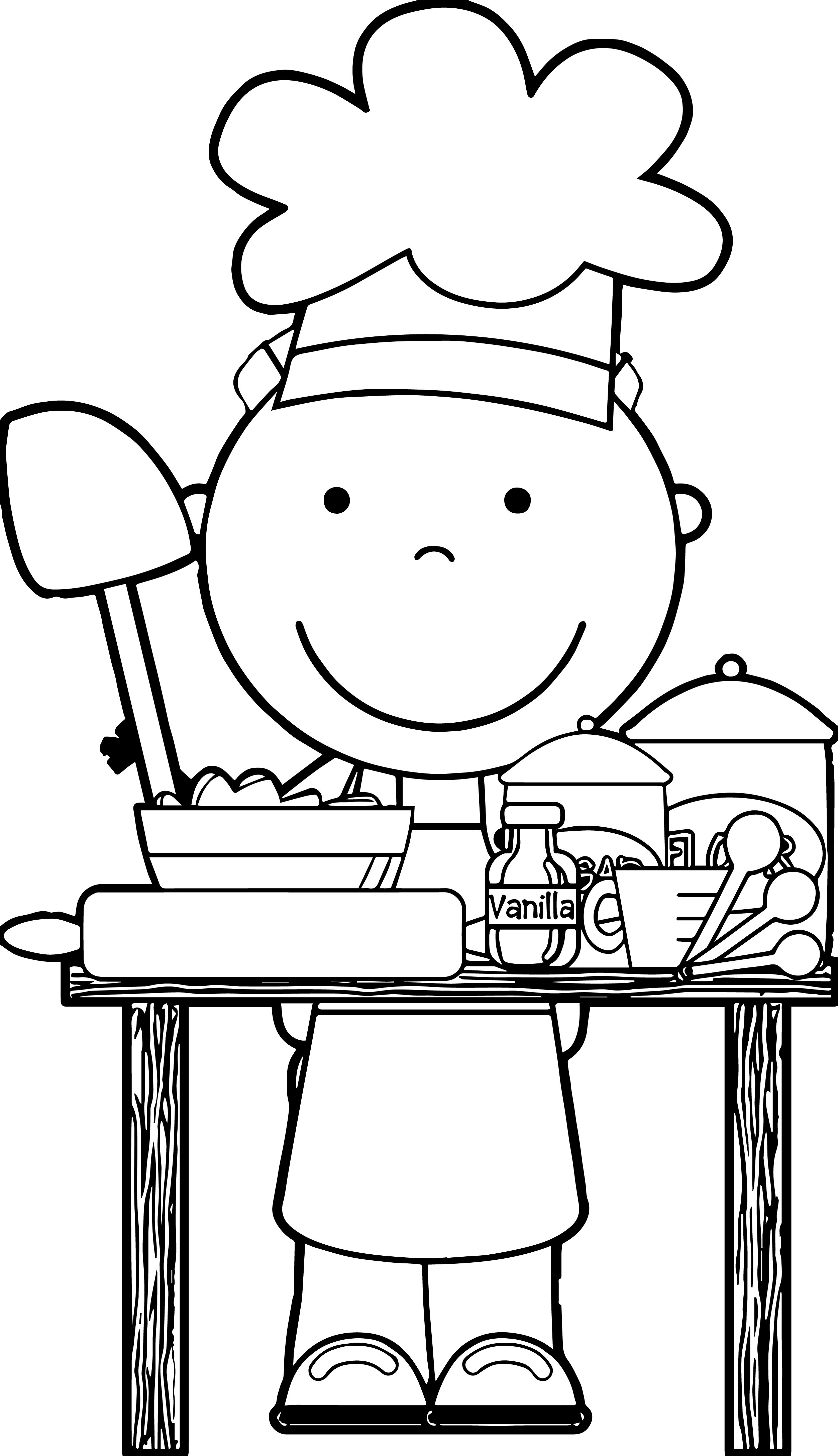 Chef clipart black and white, Chef black and white.