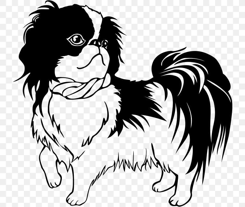 Shih Tzu Dachshund Japanese Chin Puppy Line Art, PNG.